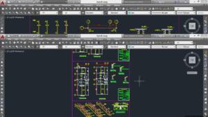 محاسبات و نقشه های ساختمان 7 طبقه