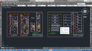 محاسبات و نقشه های ساختمان 7طبقه فولادی