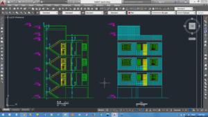 محاسبات و نقشه های ساختمان یک پیلوت بعلاوه 4طبقه