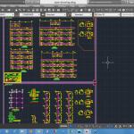 نقشه و محاسبات سازه بتنی 4 طبقه