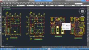 محاسبات و نقشه های ساختمان فولادی 2 طبقه