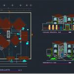 دانلود نقشه ویلای 2 طبقه زیبا