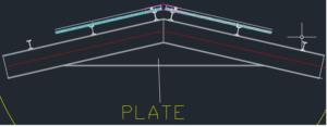 سوله با تیرآهن-تقویت تاج سوله با ورق