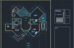 نقشه ویلای 2 طبقه شیک