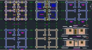 دانلود نقشه ویلای یک طبقه