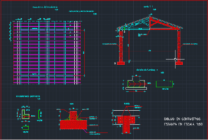 نقشه سازه چوبی با دیوارهای اجری