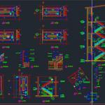نقشه دیتایل پله ، درب وپنجره