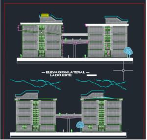 نقشه معماری مدرسه