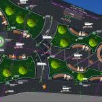 نقشه معماری طرح پارک