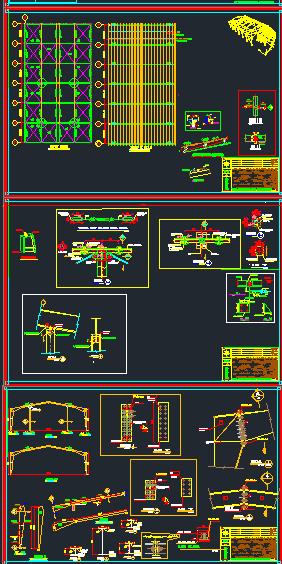 نقشه اتوکد سوله